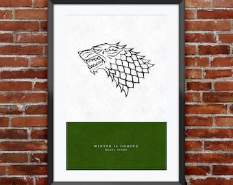 "Game of Thrones - House Stark print 11X17"""