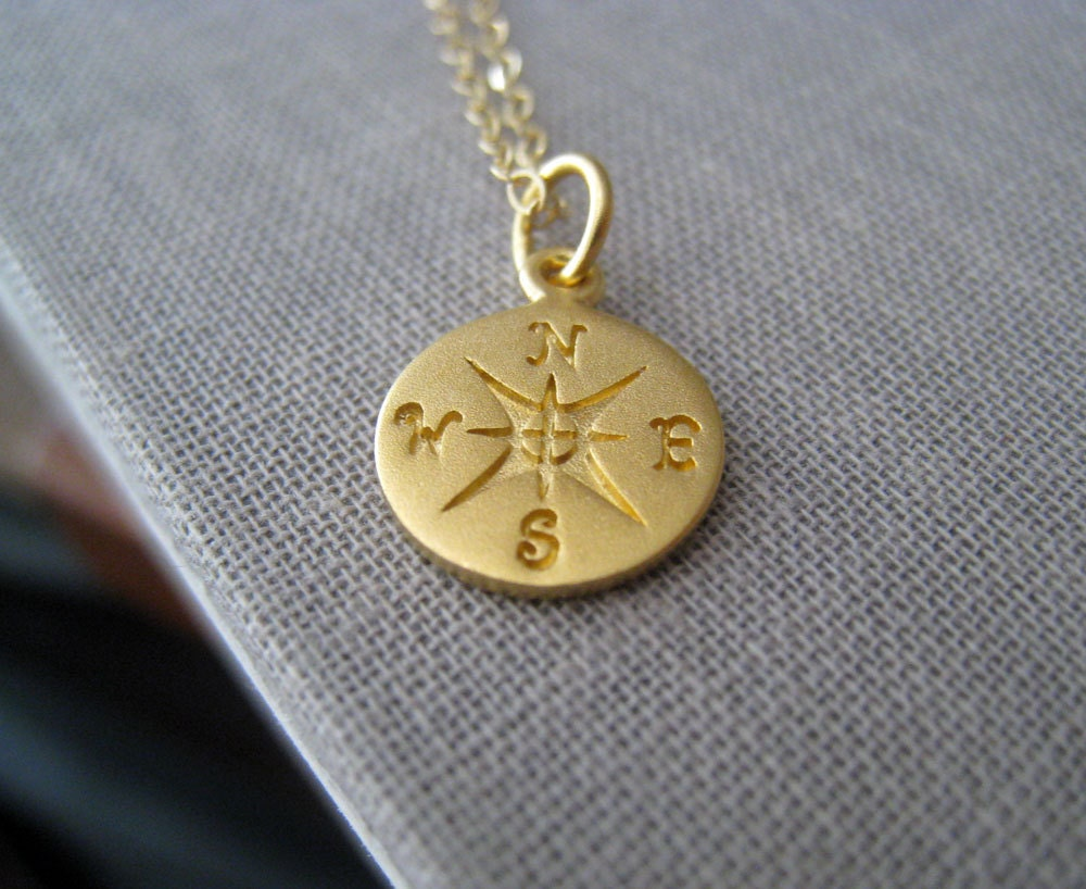 original compass necklace eccentricity eclecticeccentricity product eclectic by personalised gold plated