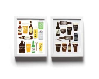 Set of Two Beer Prints