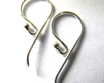 MS  Long Back Earwires One Dot Ball 6 prs Bali Sterling Silver Fair Trade