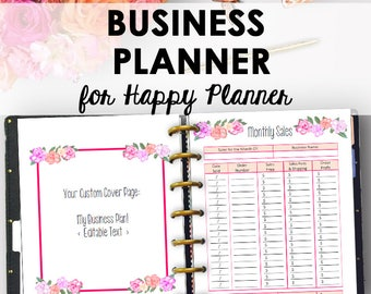 Business Plan Inserts for Happy Planner, Printable Direct Sales, Printable Business Planner Inserts Binder Printables 9 x 7 Instant Download
