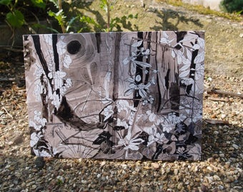 Fine art/Greetings card/Unique/Made in the UK/Blank card/Catching the blossom/Atmospheric