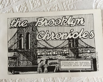 Vintage The Brooklyn Chronicles. 1996 Book of Legends, Myths and Falsehoods of Brooklyn. Irwin Fleminger.
