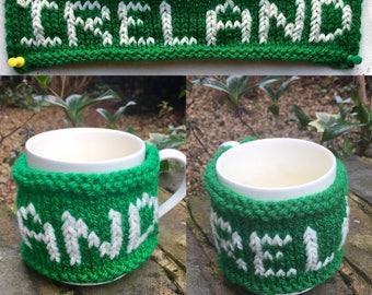 Hand-made Mug Cosy/Mug Warmer - Six Nations Editions - Ireland