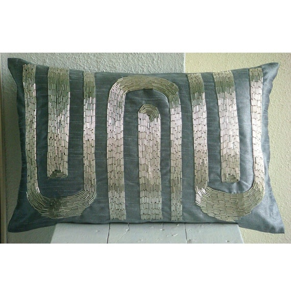 Decorative Oblong Lumbar Rectangle Throw Pillow Covers Couch