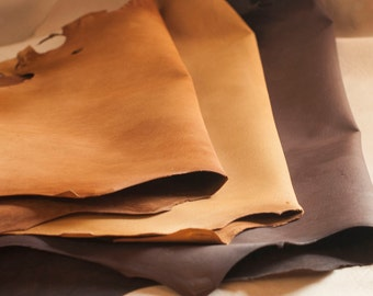 Brown Goat Craft Leather - Vegetable Tanned & Aniline Dyed