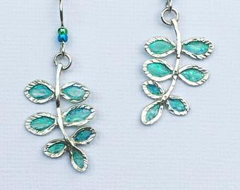 Leaves of Green Earrings