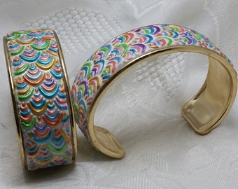Bracelets ax scales multicolored and sparkly 3 shapes available to choose from