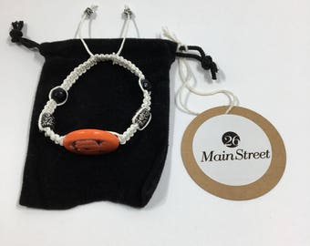 26 Main Street - Adjustable Bead and Charm Macrame Bracelet