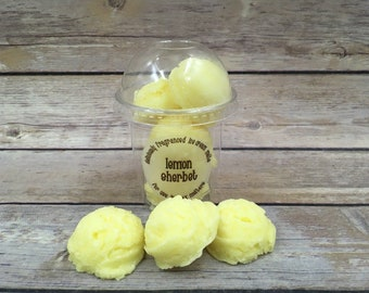 Heavenly Lemon Sherbert Ice Cream Candle Wax Melts Burner
