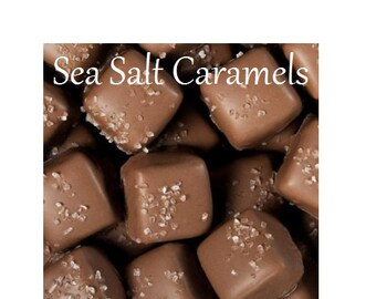 Chocolate Seasalt Caramels, Milk or Dark Chocolate