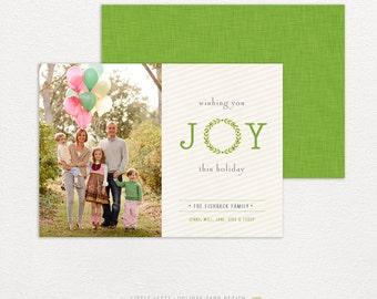Personalized holiday cards- photo christmas cards- wishing you JOY