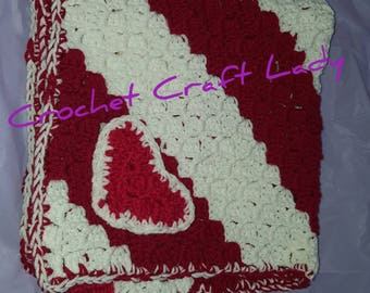 Red & White Baby Blanket
