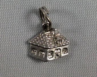 Vintage Sterling Silver Cottage House Charm for your Bracelet or Pendant
