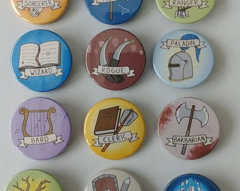 Set pin button 38 mm Role Playing classes