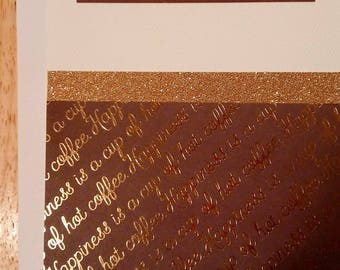 Anniversary Card for Male in Brown/Gold/Cream