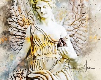 Guardian Angel Watercolor Photo Print *DIGITAL*