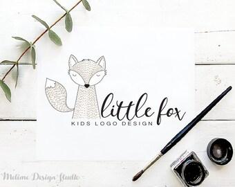Kids Logo Design, Premade Logo, Fox Logo for your Business, Kids Boutique logo and branding, Children Logo design (22-LOGO)