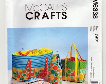 McCall's Crafts Pattern M6338 - Carriers