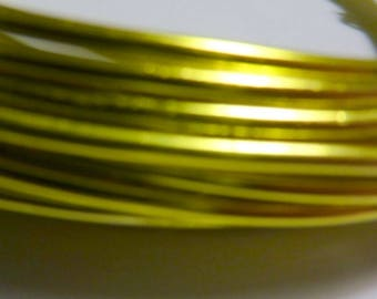 5 m beautifully colored aluminum yellow 2mm thick