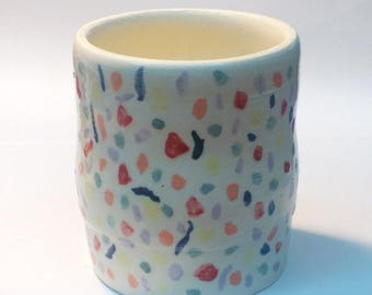Ceramic toothbrush cup, pencil cup.