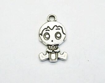 charm baby boy silver bottle (D78) child