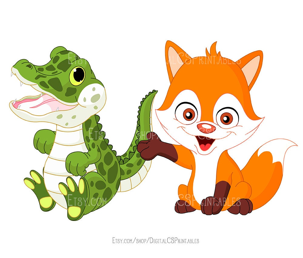 cute animal clipart kids clipart cute clipart safari animal clipart rh etsystudio com