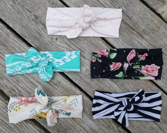 Mommy and me headbands/ top knot headbands/ floral top knot headband