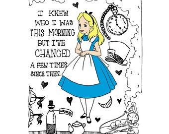 Disney-Alice in Wonderland Print - FREE SHIPPING