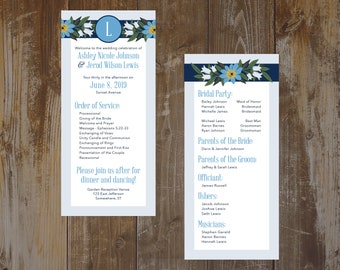 Flower Wedding Programs (Set of 50)