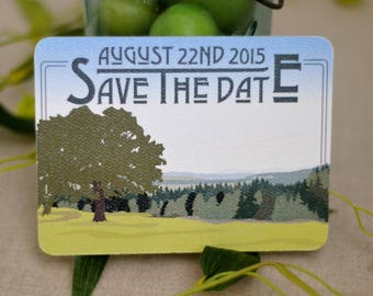 Fruitlands Valley Harvard Massachusetts Wedding Save The Date Postcard - BP1