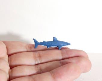Miniature Shark - Tiny handmade figurine - Shark Figure - Shark Model - Sea life Figure - OOAK.