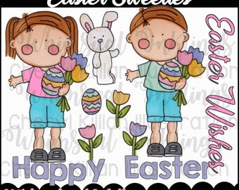 Easter Sweeties Clipart Collection- Immediate Download