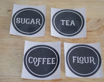 Pantry Labels - Canister Labels - Kitchen - Vinyl - *FREE SHIPPING*