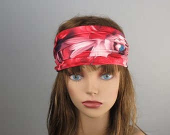 STORE CLOSING SALE Photo Print Stretch Headband Woman Accessory Head Band Multicolor Flower Print Woman Headband