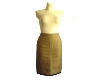 CHANEL / Vintage linen skirt / Size 4-6 U.S.