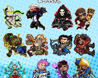 """Overwatch 2"""" Double sided Clear Acrylic Charms [Keychains]"""