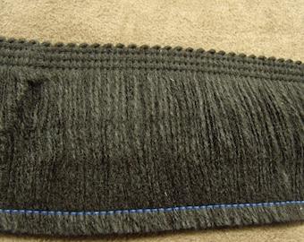 Fringe black polyester - 5 cm