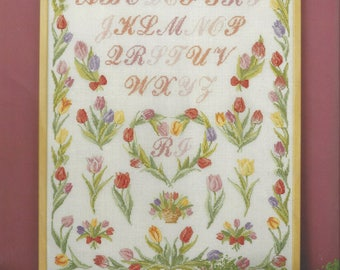 """Clearance - """"Spring Flowers-Tulips"""" Counted Cross Stitch Chart by Permin of Copenhagen"""