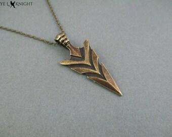 Bronze Arrowhead Necklace