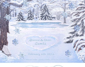 Winter Woods ~ Personalized