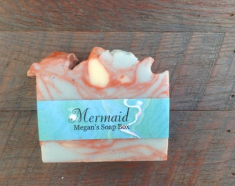 Mermaid bar soap - clean and fresh scented soap