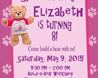 Build a bear party Etsy