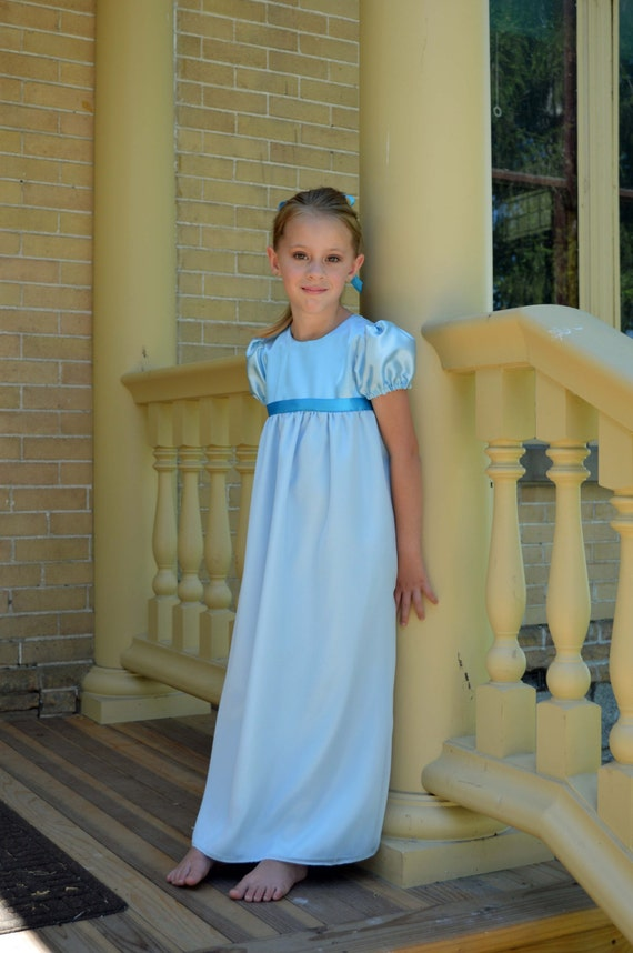 Wendy Darling Costume Girls Peter Pan Tinkerbell Nightgown