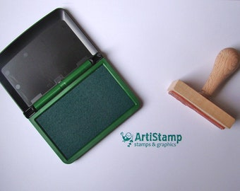 Green COLOP Micro 1 INK PAD, Dye Ink Pad, Craft Ink, Stamp Pad, Rubber Stamping, 5x9cm