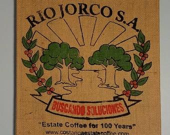 Green Trees (Costa Rica) Coffee Bag Wall Hanging