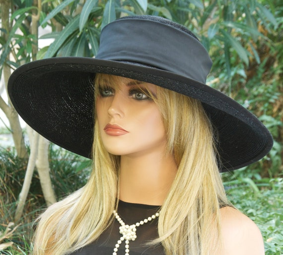 Wedding Hat, Ascot Hat, Ladies Black Hat,  Funeral Hat, Formal Hat,