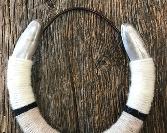 Lucky Yarn Wrapped Horseshoe