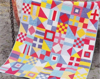 Nautical, Cluck Cluck Sew, DIY Nautical Flags Quilt Pattern