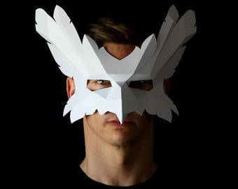 BIRD Mask - Make an easy bird mask from card with this PDF download